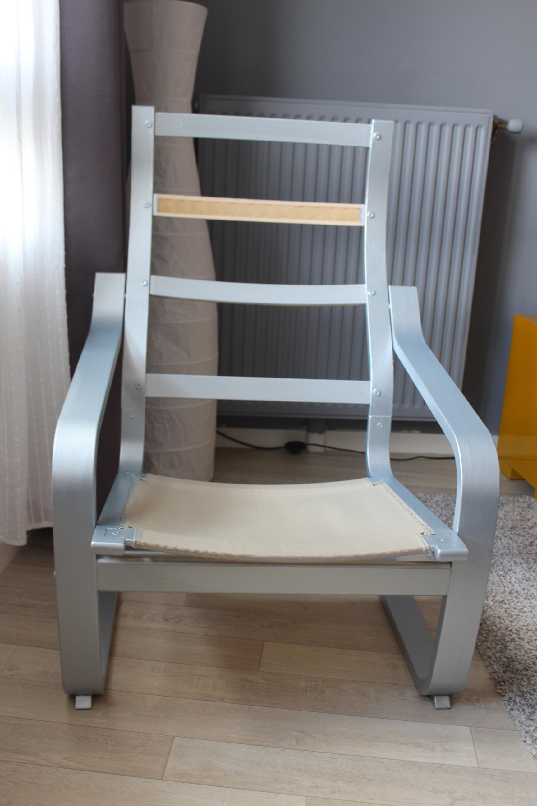 Ikea hacking fauteuil po ng lapetitemaisoncouture for Repeindre un fauteuil